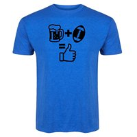 Beer Plus Footballer Equals Thumbs Up Men Printing Casual T Shirt Men S Tees Fashion Design