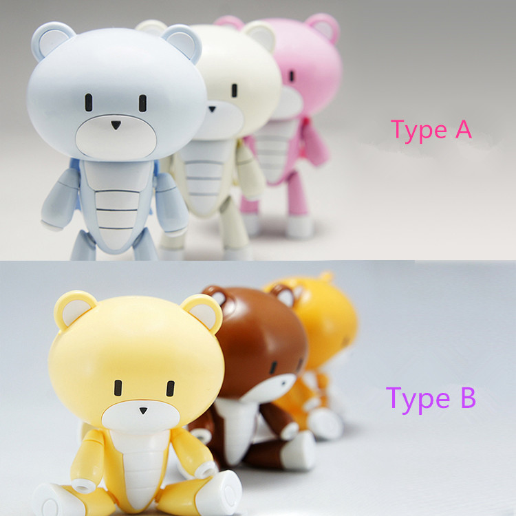 ФОТО Brand Dragon Momoko HGBF Gundam Beargguy Third Generation 3 Pieces/set Assemble Cute Bear Action ABS Figure Collection
