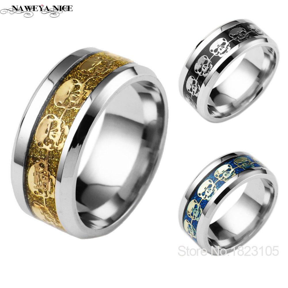 gold skull rings promotion-shop for promotional gold skull rings