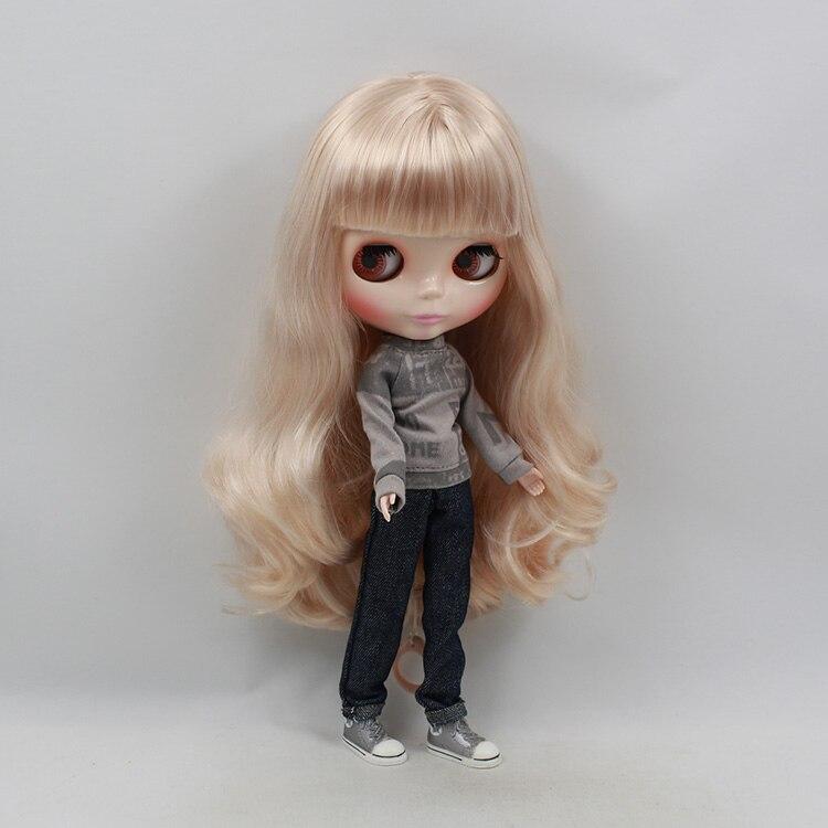 Beaukiss Blyth Nude Doll Gold Bangs Long Hair 12inch Fashion Blyth Doll DIY Toys For Girls