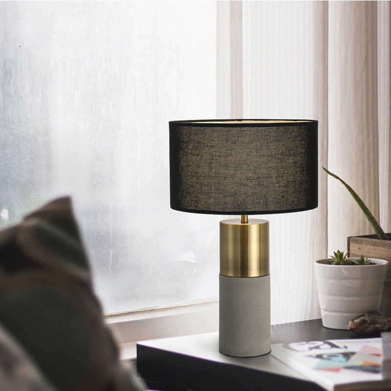 noche negra de lámparas estar sala mesa para decoración de la Lámpara moda mesita dormitorio de a lámpara de hogar mesa E27 del moderna de pantalla oCxBed