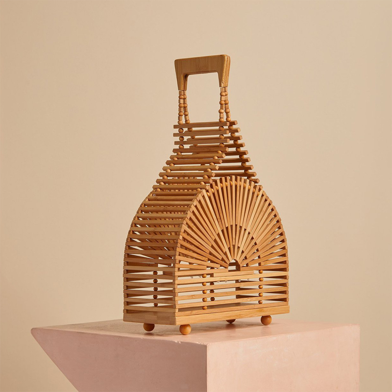Luxury handbags women bamboo top handle