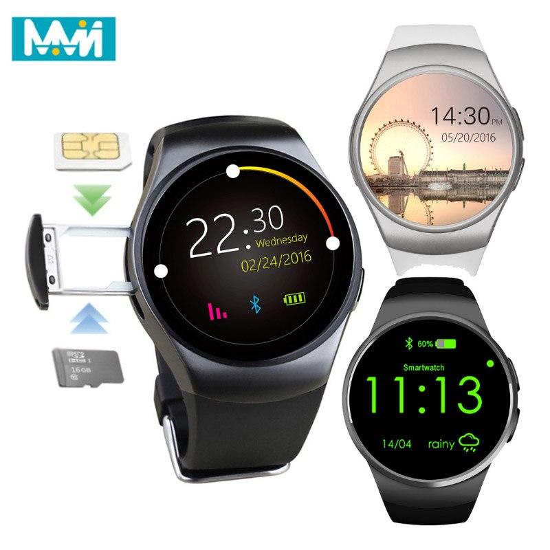 Montre intelligente KW18 hommes Support SIM TF carte Bluetooth appel fréquence cardiaque podomètre Sport étanche Smartwatch pour Android IOS Dropshi