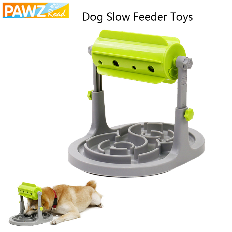 PAWZRoad Pet Dog Slow Feeder Toys Outdoor Dog Healthy Diet IQ Treat Training Toys Interactive Dispenser For Dog Playing Training