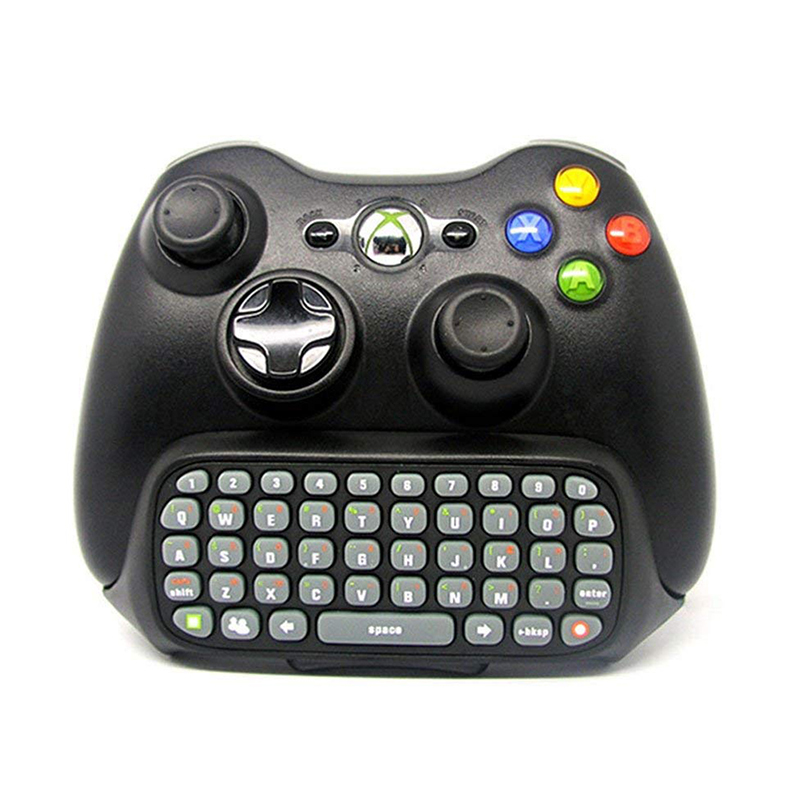 Black 47 Keys Chatpad Keypad Mini Keyboard Wireless Controller Text Messenger Keyboard  For Xbox 360 Game Controller