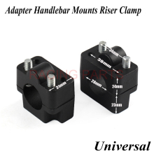 PRO TAPER Aluminum Motorcycle Dirt Bike Handle Bar Mount Fat Bar Adapter Handlebar Mounts Riser Clamp 7/8 to 1 1/8 22mm to 28mm 22mm 28mm motorcycle handlebar riser handle bar riser adapter stem riser 7 8 1 1 8 fat bar clamp for yamaha r1 r3 r6 for bmw