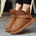 2016 Brand Winter Shoes Men Ugs Australia Men Ankle Boots Flock Slip-on Buckle Snow Boots Men Keep Warm Winter Shoes
