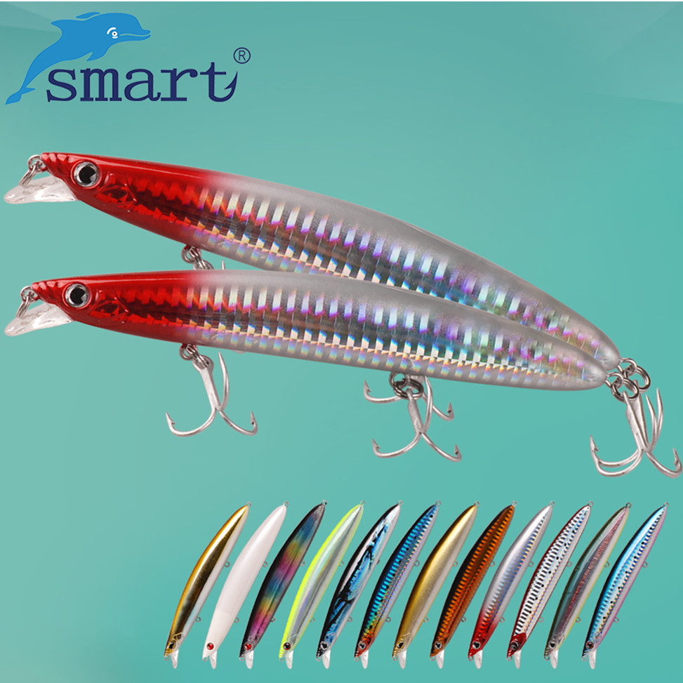 SMART Minnow Bait 125mm 18.5g Floating Fishing Lure VMC Hook Isca Artificial Para Pesca Leurre Souple Peche Wobblers Fake Feeder smart minnow fishing lure 45mm 3 7g sinking hard bait vmc hook isca isca artificial para pesca leurre peche dur fishing wobblers