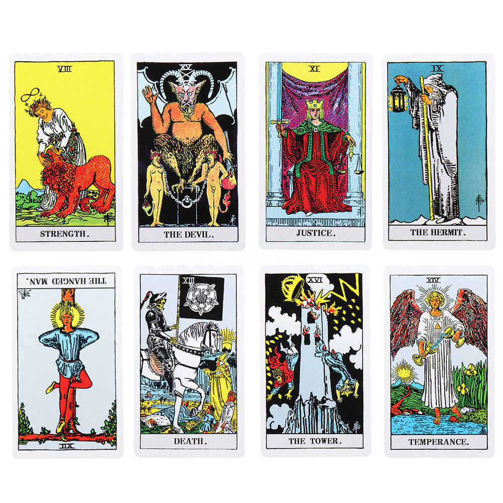 Rider Tarot Cards For Divination Family Friend Party Game Card Game English Edition Adults Gathering Game Gift