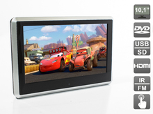 Headrest Car Monitor HDMI 10.1 inch. DVD player and HD media player. Resistive touch LCD 1024×600 (DVD/USB/SD/IR/FM), AVS1038T