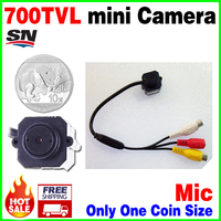 Very Samll!1/4cmos 700TVL Surveillance Home Audio Mic CCTV Mini hd Camera AV Joint Video monitoring security micro vidicon cheap