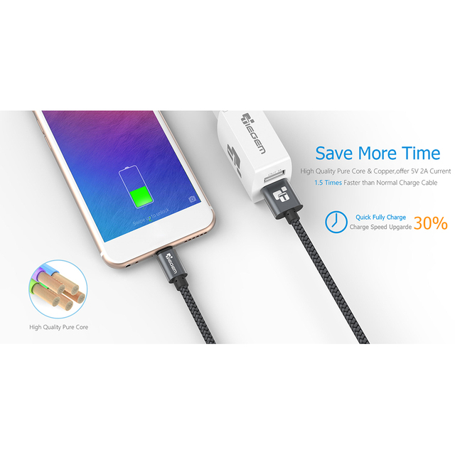 Micro Usb Cable 2A 1m Fast Charging Nylon Usb Sync Data Mobile Phone Android adapter charger cable for Samsung Sony HTC LG Cable