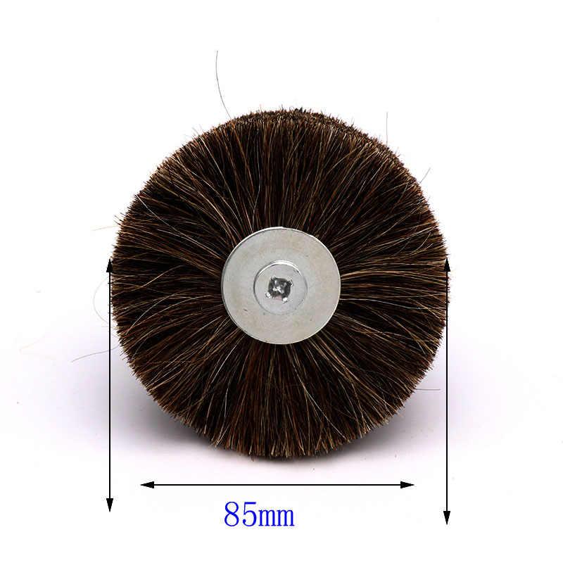 1 шт. конский волос щетки колеса абразивный провод измельчения цветок голову работа по дереву Полировка Кисть дробилке скамьи для Деревянная мебель