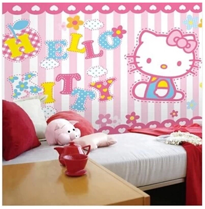 Mural Cartoon Child Real Background 3D Wallpaper Mural Hellokitty Girl Male Wall  Murals For Living Room In Wallpapers From Home Improvement On ... Part 78