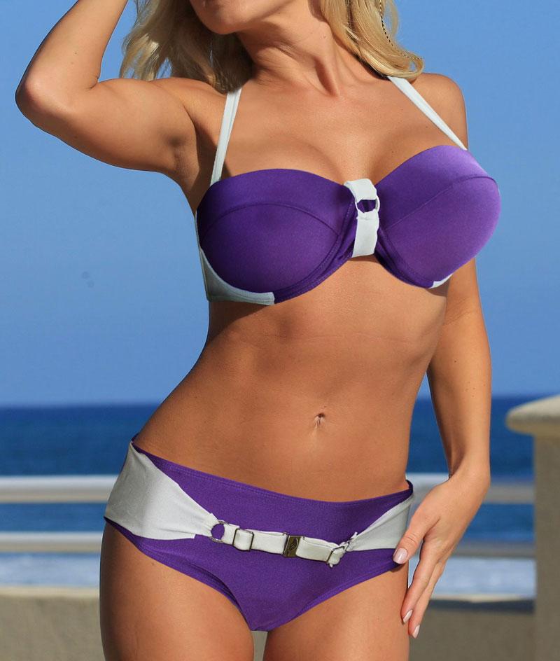 Sexy varm lilla strand Queen BIKINI SWIMSUIT SVIMKLÆR størrelse M L - Sportsklær og tilbehør