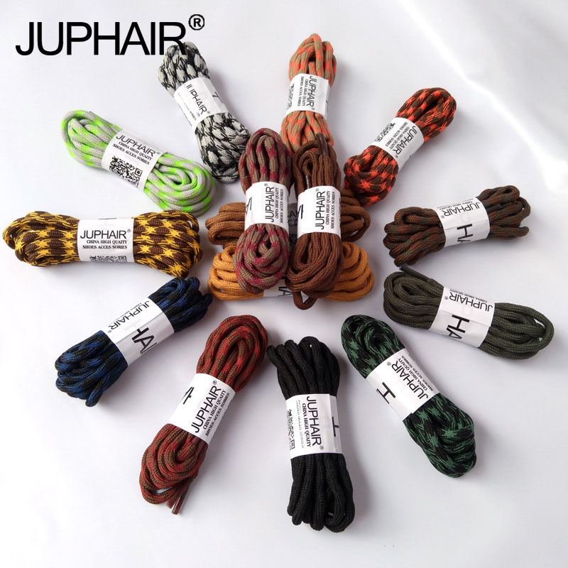 JUP 12 Pairs Outdoor Sports Hiking Wave Round Shoelace Anti-Skid Rope Shoe Laces Casual Sneaker Bootlaces Strings Shoelaces Lace