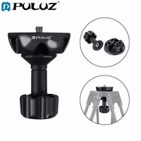 PULUZ 75mm Semisphere Converter Half Ball Flat to Bowl Adapter with 1/4 and 3/8 Screws for Fluid Head Tripod DSLR Rig Camera