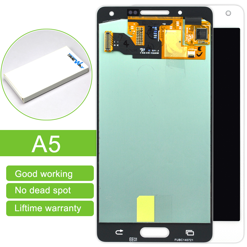 Hot Sale Black/blue/white 5pcs/lot For Samsung A5 A500 New Lcd Display Touch Screen Digitizer Assembly Replacement Free Shipping new black white lcd touch digitizer screen assembly for ipod touch 5 5th gen generation free shipping low cost