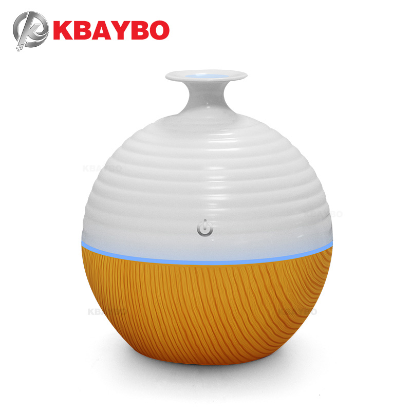 USB Ultrasonic Humidifier 130ml Aroma Diffuser Essential Oil Diffuser Aromatherapy mist maker with 7 color LED Light  Wood grain new led usb humidifier mini aroma diffuser air humidifiers with aroma lamp aromatherapy diffuser mist maker with led light 220ml
