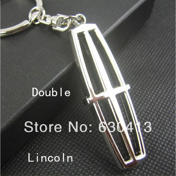 10 Pcs Lot Lincoln Car Logo Keychain Metal Car Key Chain Lincoln