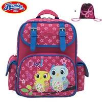 JASMINESTAR Children's School Bags 2018 New Butterfly Cat Owl Anime Backpack Orthopedic School Bag For Boy Girl Backpack Kids