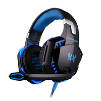 G2000 Deep Bass Game Headphone Stereo Surrounded Sound Over Ear Gaming Headset Headband Earphone With Led