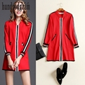 Star with red baseball uniform female early spring 2017 new long section was thin casual windbreaker jacket-dod240