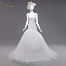 Loverxu Robe De Mariee Mermaid Wedding Dress Chapel Train