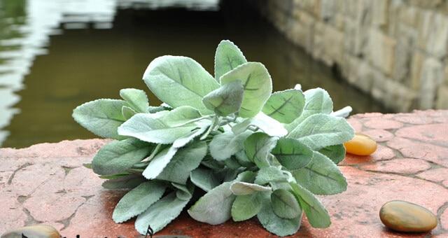 top quality artificial plants silk flowers spray acorn leaf green Quality Fake Plants