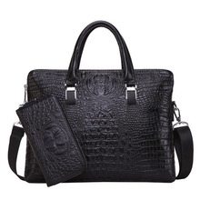 2017 Fashion Pu Leather Men Briefcase Men's Messenger Bags 14″ Laptop Business Bag Luxury Lawyer Handbags NB064
