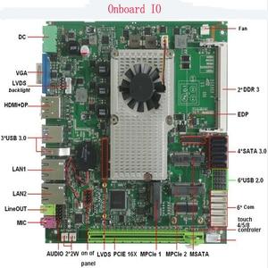 Image 2 - جزءا لا يتجزأ من اللوحة الرئيسية إنتل كور i5 3210M المعالج بدون مروحة لوحة رئيسية ITX الصناعية