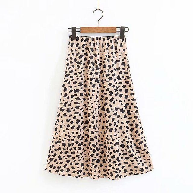 9079505b83dcc US $12.97 45% OFF|Satin The Naomi Wild Things Leopard High Waist Women Wild  Side Easy 90's Slip Skirt-in Skirts from Women's Clothing on ...