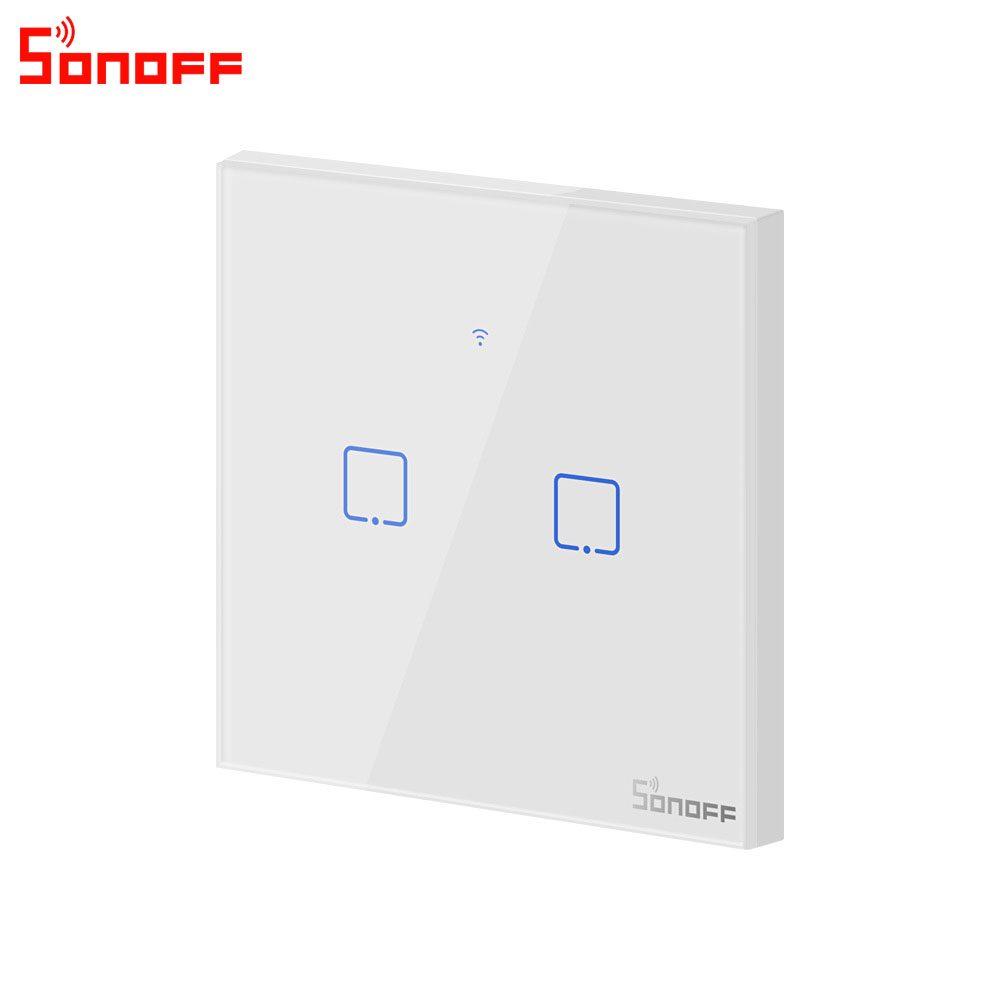 Image 3 - Itead Sonoff T0EU 86 1/2/3 gang TX Series Wall Touch Wifi Switch Remote Control Smart Home Switch Works With Alexa Google Home-in Home Automation Modules from Consumer Electronics