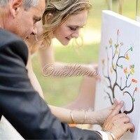 Bruiloft Boom Vingerafdruk Gastenboek + 24 Inkt Pad voor Huwelijksverjaardag Geschenken Decoraties Event Feestartikelen Hot Koop