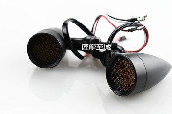 Bir Çift Krom Motosiklet Dönüş Sinyal ışığı 20 LED Dönüş Sinyalleri Göstergeler Evrensel Flaşörler Flaşörler Harley Honda Yamaha Için