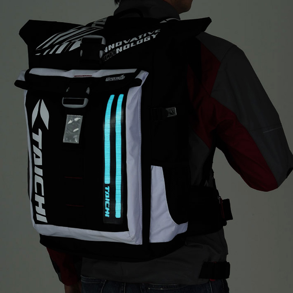 New Rs Taichi Wp El Back Pack Water Proof Bag Backpack Daily Travel Bag With Led Light Choice Materials Back To Search Resultsautomobiles & Motorcycles