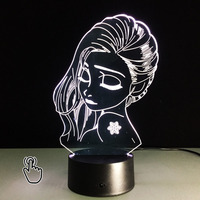 3D LED Luminarias Night Light Lamp Girl 3D Lights Children S Nightlight Visual Led Night Lights
