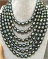 Beautiful 60inch 12MM tahitian south seas peacock green pearl necklace