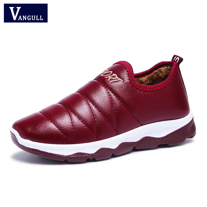 Vangull 2019 Waterproof Women Winter Shoes Couple Snow Boots Warm Plush Fur Inside Antiskid Bottom Keep Warm Mother Casual Boots