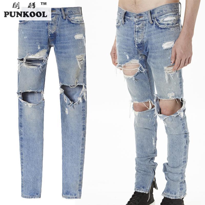 Aliexpress.com : Buy PUNKOOL Best Version Fear Of God Men Ripped ...