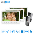 JeaTone 7 inch TFT Color Monitor 1200TVL Camera Video Door Phone Intercom Remote Unlocking Waterproof IR Night Vision 2v1