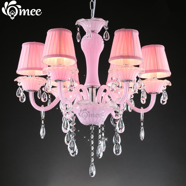 Us 202 35 29 Off Pink 6 Head Crystal Chandelier Lighting Living Room Candle Lamp Bedroom Re De Cristal Para Sala In