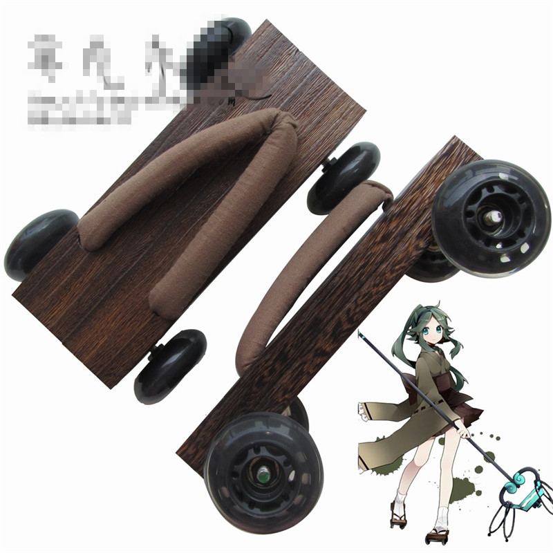 Clogs Japanese Moccasins Miku Cosplay Shoes Paulownia Pulley Slippers Wool Mules