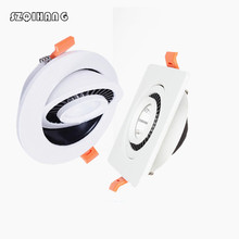 Led Downlight Dimmable Round/Square/White/Black spot led light 7W 10W 15W 20W 360 degree rotating Ceiling downlight lamp