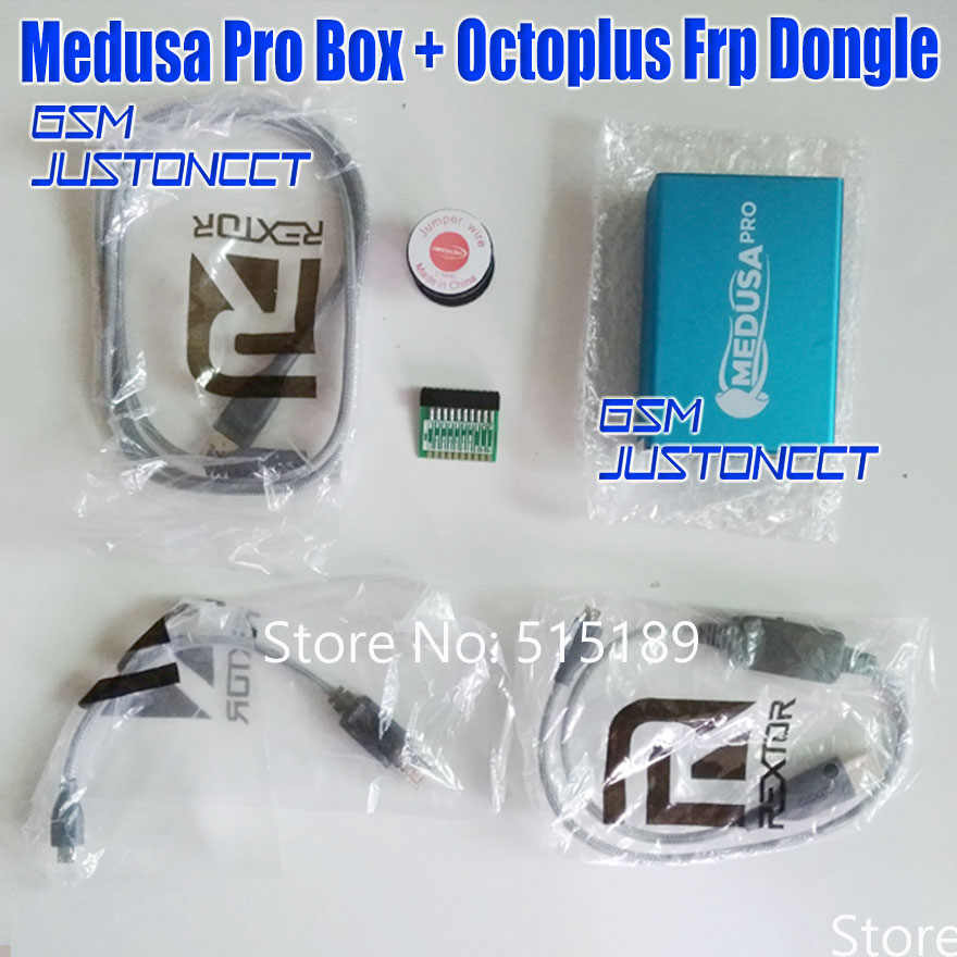 ORIGINAL new Medusa PRO Box Medusa Box +octoplus Frp dongle + JTAG Clip MMC  For LG For Samsung For Huawei with Optimus cable