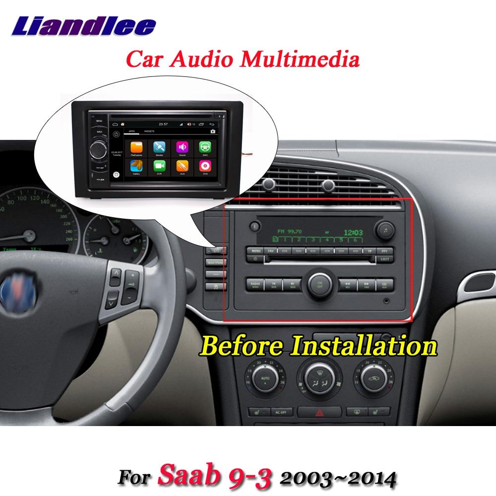 Liandlee Car Android 8.0 System For Saab 9 3 2003~2014 Radio DVD Player Frame USB GPS Navi MAP Navigation HD Screen Multimedia