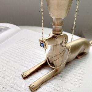 Image 5 - Louleur 925 スターリングシルバースクエアジルコンチョーカーネックレスゴールドファッション野生ショート鎖骨チェーンジルコンペンダントネックレスギフト