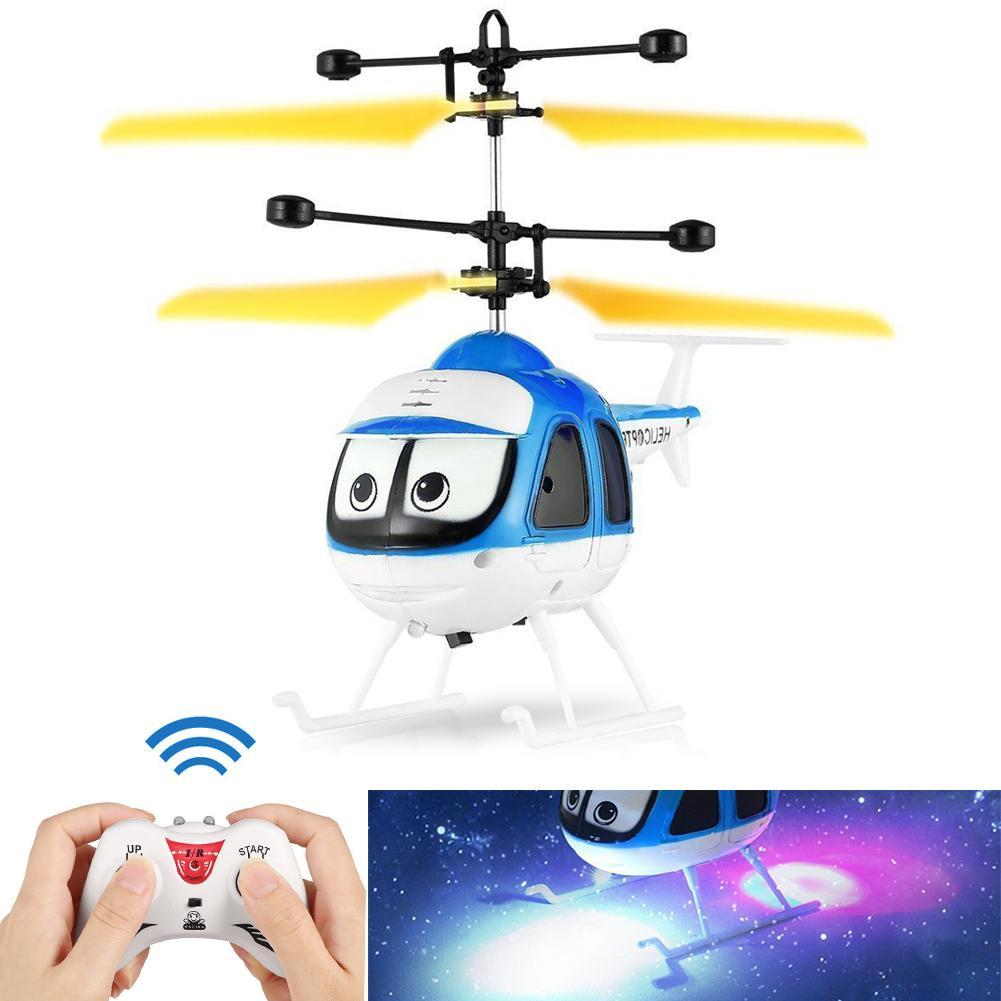 New Induction Flying Toys RC Helicopter Cartoon Remote Control Helicopter Drone Kids Toys