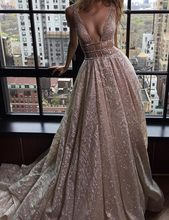 BeryLove Sparkle Elegant Formal Evening Dress 2019 Evening Gown Long Sexy Prom Dress Special Occasion Dress Train Robe De Soire(China)