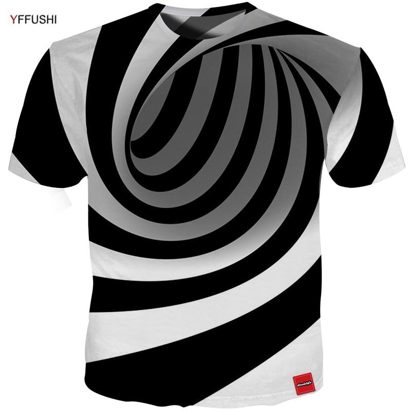 YFFUSHI 2018 Hombre / Mujer visión 3D camiseta Moda Verano Línea - Ropa de hombre